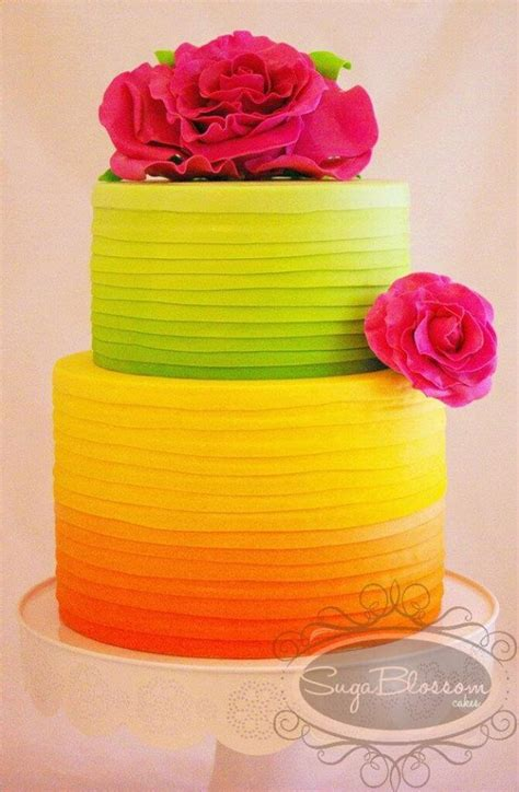 Pudding Hello Orange And Blue Theme 6 neon cakes and to dazzle your guests