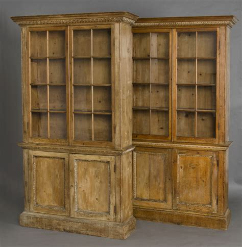 187 product 187 pair pine glazed bookcases