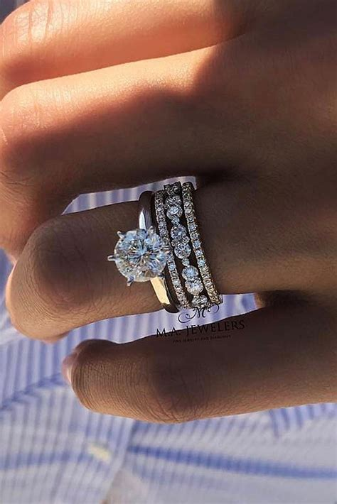 9 Beautiful Wedding Bands by Engagement Rings 30 The Most Beautiful Gold Engagement