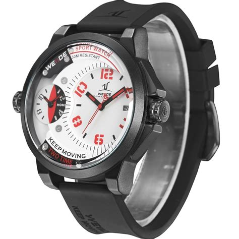 Weide Universe Series Dual Time 30m Water Resistance Limited 1 weide universe series dual time zone 30m water resistance uv1501 white jakartanotebook