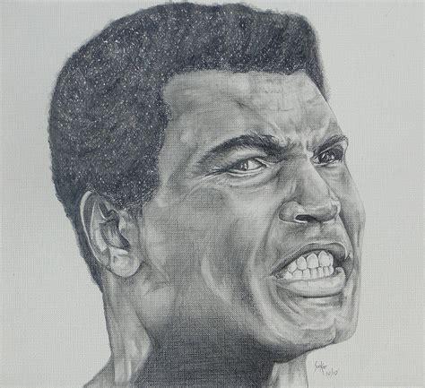Pencil Alis muhammad ali drawing by stephen sookoo