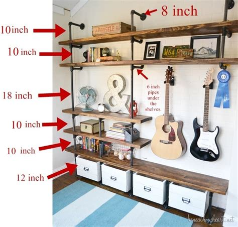 industrial shelves for a boy s room beneath my heart how to build industrial shelves zonetinue