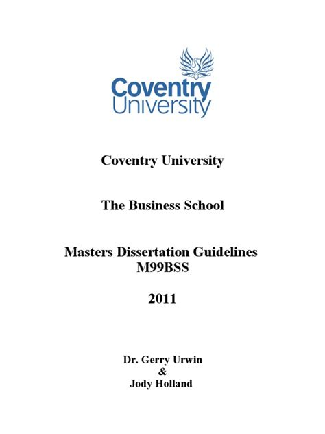 dissertation front cover template 1 dissertation guidelines v2 2011 cohort