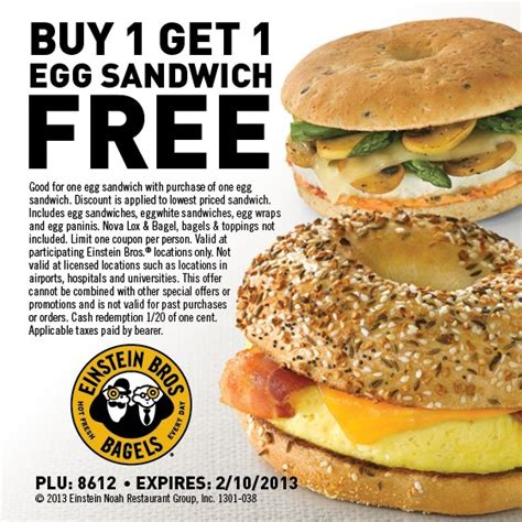 Exp Januari 2016 Buy One Get One Free Ovomaltine Crunchy D einstein bros bagels bogo coupon a breakfast for less mission to save