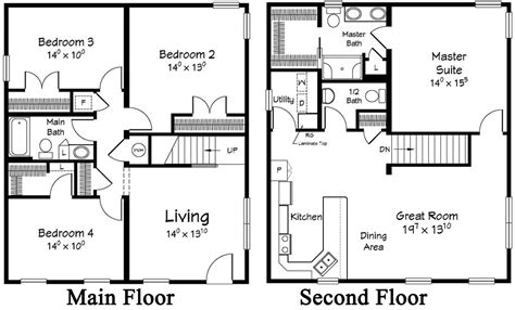 2 story mobile home floor plans 2 story modular homes floor plans house design ideas