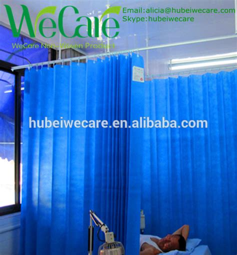 bed screen curtain hospital cubicle bed screen curtain with fire proof and