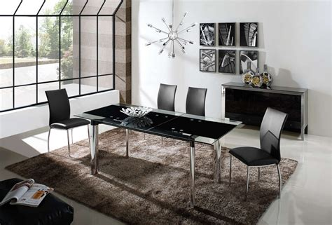 black dining room furniture sets chemistry dining room set table 4 chairs black by