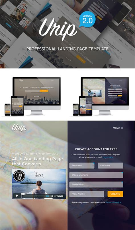 10 Best Bootstrap Landing Page Templates With Responsive Designs Bootstrap Landing Page Template