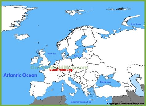 where is luxembourg on the map luxembourg location on the europe map