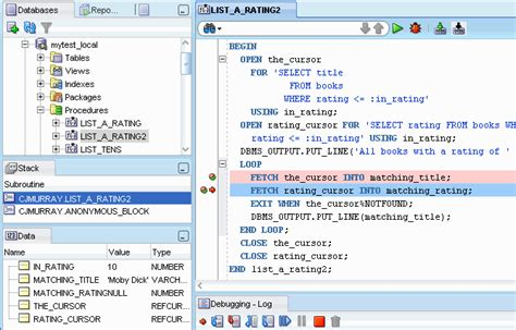 tutorial oracle procedure sql developer concepts and usage