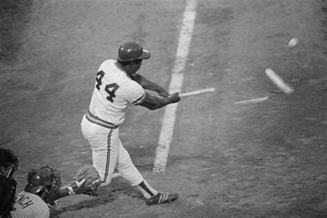 hank aaron swing hank aaron stock photos and pictures getty images