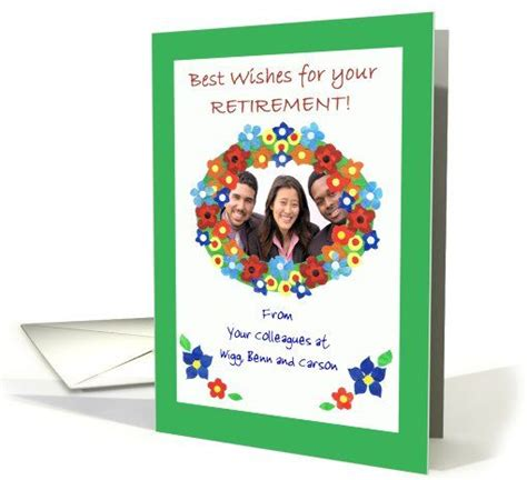 best wishes for colleague retirement best wishes photo card for colleague flower power card