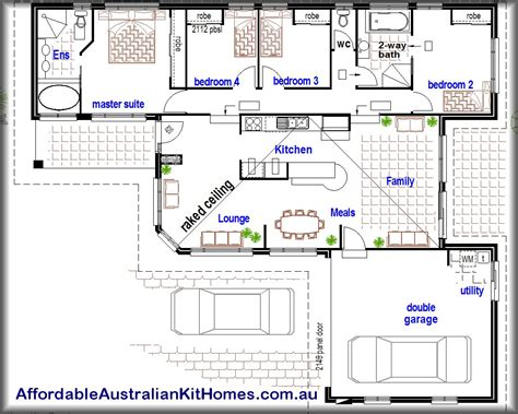 cheap 4 bedroom house plans simple affordable 4 bedroom house plans placement home