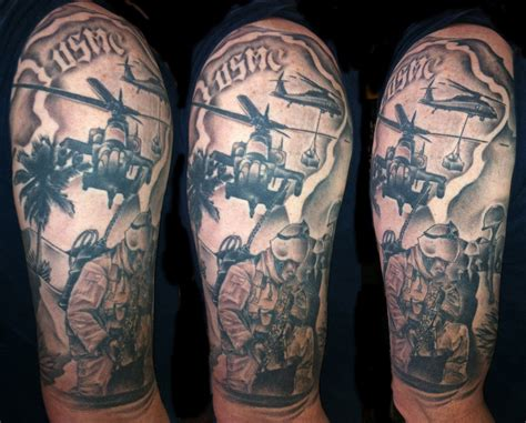 tattoo military history ladies army half sleeve tattoos for men and women
