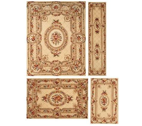 royal palace blossoming medallion handmade wool rug qvc