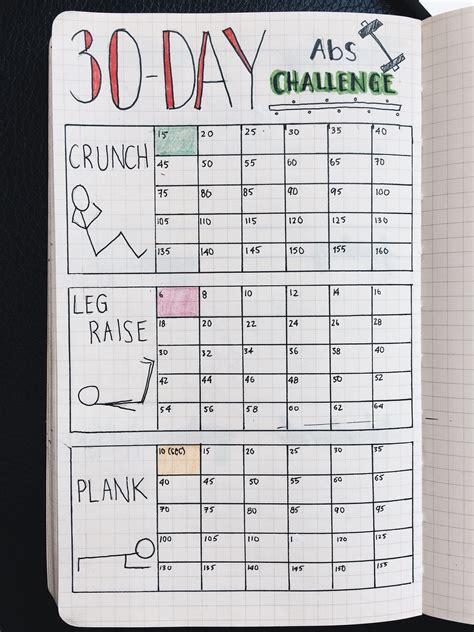 design and health journal bullet journal 30 day fitness challenge tracker stay
