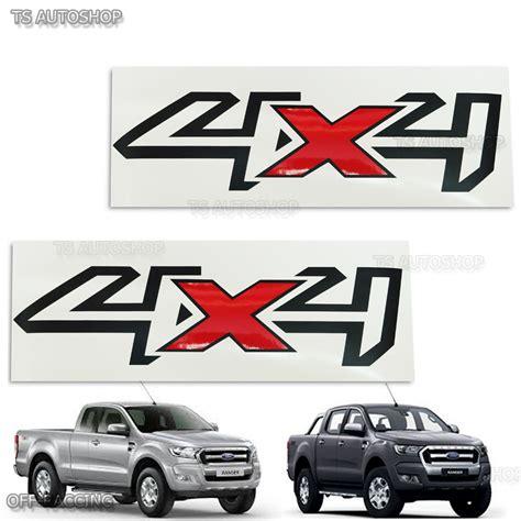 Sticker Road 4x4 Free Ongkir 2pcs 2pcs black 4x4 sticker rear back for ford ranger wildtrak mk2 px2 2015 2017 4x4 ebay