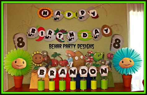Plants Vs Zombies Birthday Decorations by Plants Vs Zombies Birthday Ideas Photo 1 Of 64