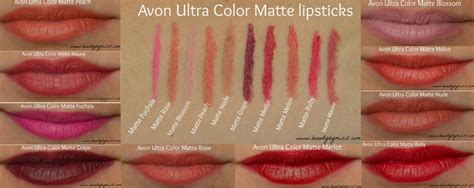 Just Miss Ultramatte avon ultra color matte lipstick swatches by miss l