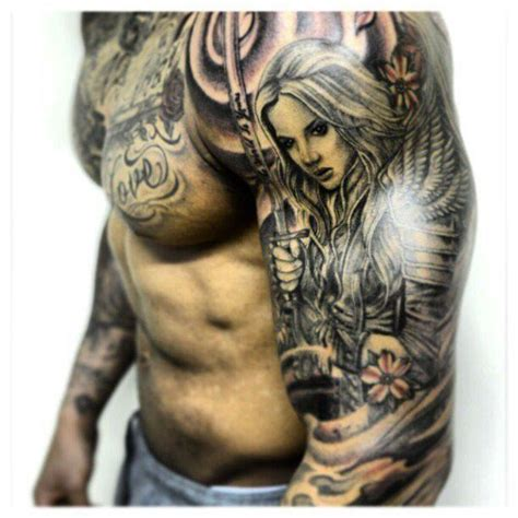 half sleeve angel tattoos designs for sleeves tattooic