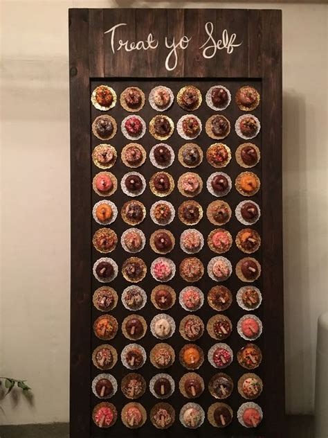 top  wedding donut wall ideas   reception