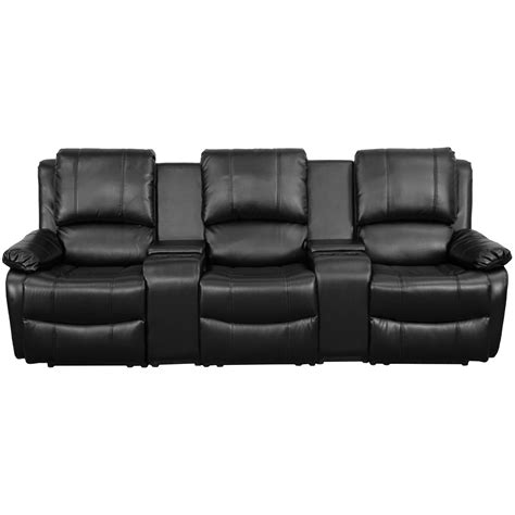 harlow leather theater chairs