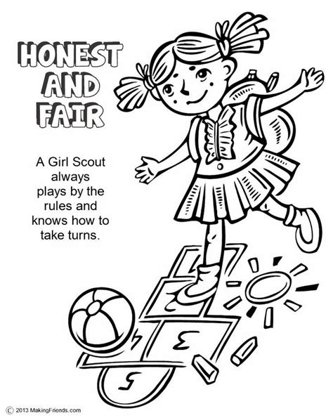 Daisy Scouts Coloring Pages Coloring Home Scouts Coloring Pages