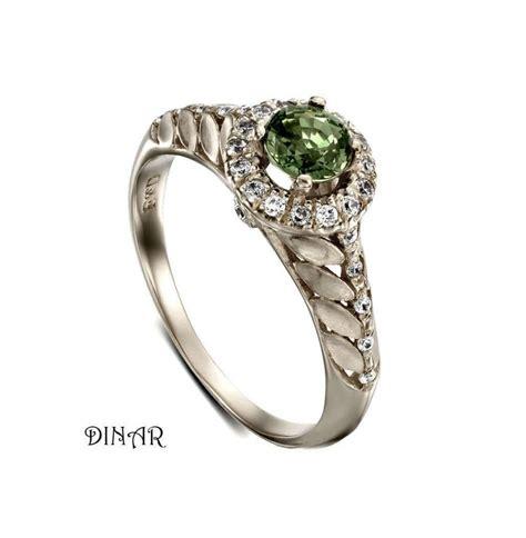 Green Saphire 14 2ct green sapphire diamonds halo engagement ring 14k gold