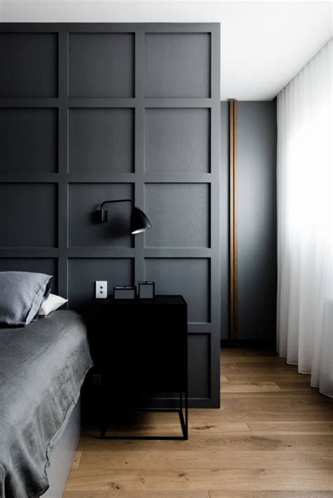 panelled wall divider bedroom design warehouse living in melbourne design by ha architecture
