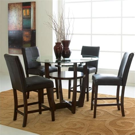 Standard Height Of Dining Table And Chairs Standard Furniture Apollo Glass Counter Height Dining Table In Merlot 10816 Kit