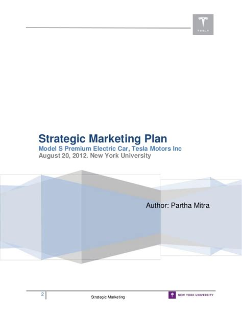 tesla marketing plan slideshare marketing plan