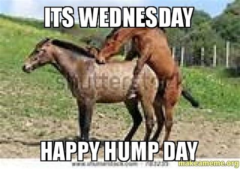 Happy Wednesday Meme - its wednesday happy hump day make a meme