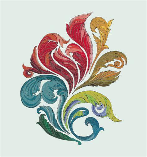 colorful flower design vector of colorful floral design elements vector floral