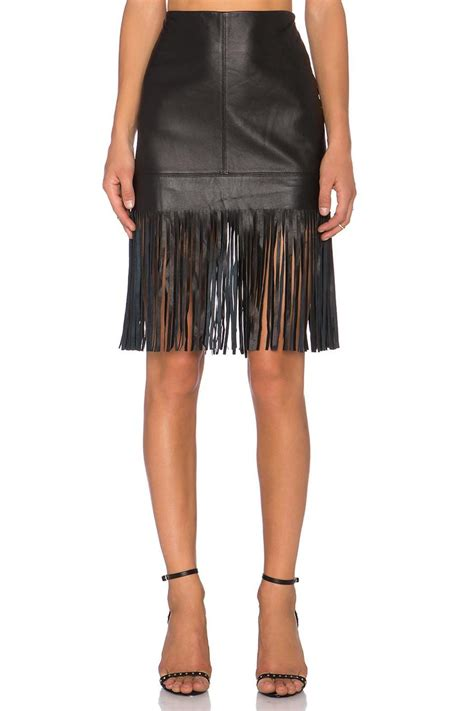 fifteen twenty leather fringed skirt from new jersey by