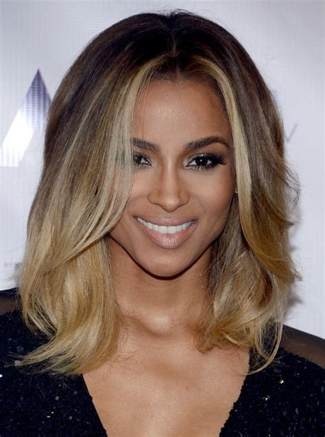 onbre styles for mid length hair ciara latest shoulder length ombre hairstyle with layers