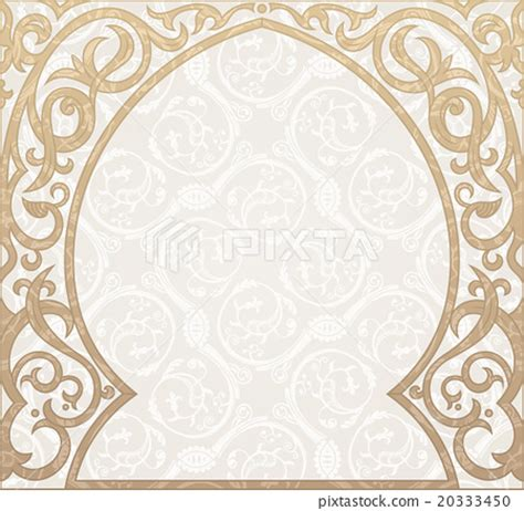 Birthday Party Decoration At Home by Arabic Greeting Vector Background Arch Muslim Stock