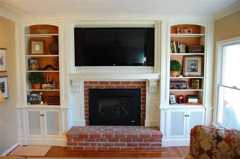 Tv Above Fireplace Mantel by Custom Mantel Tv Cabinetry By Sjk Woodcraft Design