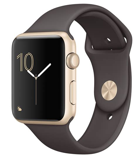 Ori Apple Serie 2 Aluminum Gold Cocoa Sport Band 42mm apple series 1 42mm gold aluminum mnnn2ll a