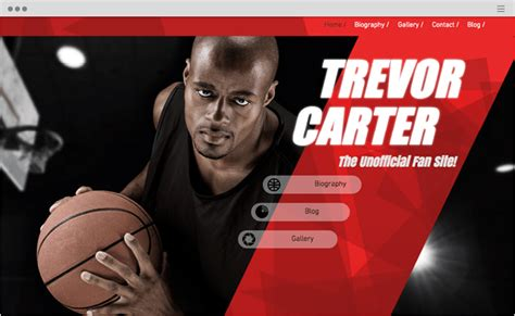 10 Fitness And Sports Website Templates Free From Wix Free Basketball Website Templates