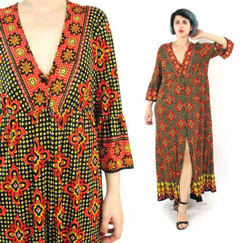 Is Maxi Flower S Katjep 70s floral maxi dress hippie boho empire from honey moon muse