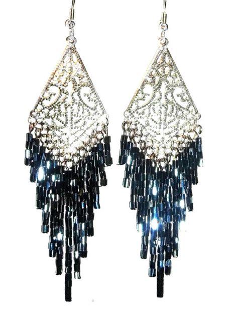 black chandelier earrings il 570xn 350343500