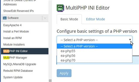 configure xp php ini how to enable custom php ini in cpanel servers with suphp