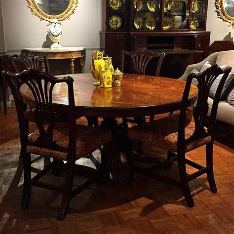 Pedestal Dining Tables For Sale Circular Regency Mahogany Pedestal Dining Table For Sale
