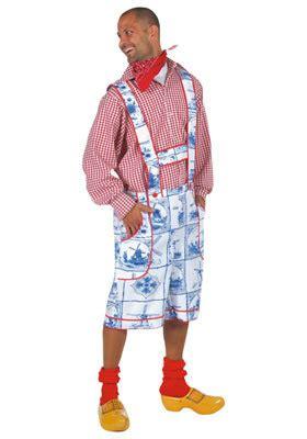 blauwe overhemd jurk hollands partycom kledingverhuur