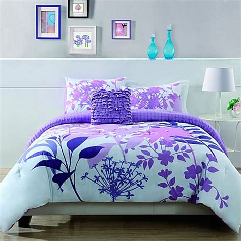 Lavender Bed Set Lavender Shadow Botanical Comforter Set Bed Bath Beyond