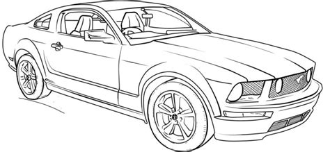 coloring pages of mustang cars ford mustang gt lineart coloring page coloring for