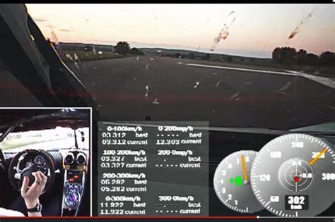 Schnellstes Auto Der Welt Agera One by Koenigsegg Agera One 1 Weltrekord 0 300 0 Km H Autobild De