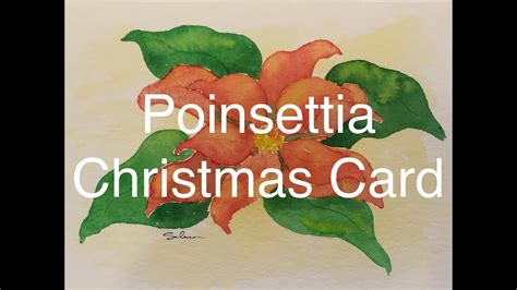youtube watercolor christmas cards tutorials how to paint a poinsettia in watercolour watercolor card tutorial plant flower