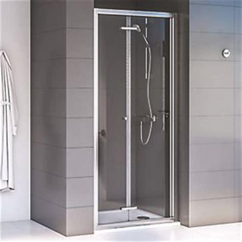 Aqualux Shine 6 Bi Fold Shower Door Polished Silver 760 X Screwfix Shower Doors