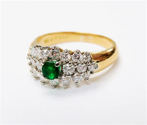 birks vintage emerald and ring